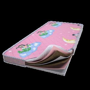 детский беспружинный матрас для новорожденного Senza molle alto