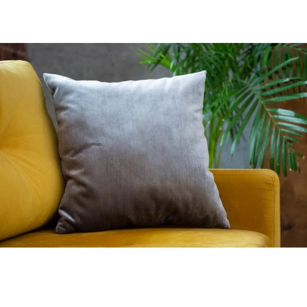 Jazz Silver декоративная серебряная подушка из велюра
